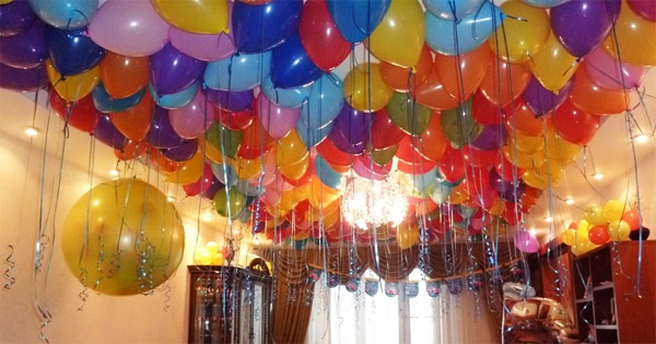 Как украсить шарами комнату ребенка на день рождения